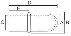 Skizze Durchziehkappen Metrisch mit Kragen