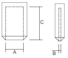 Skizze Schutzkappen für Flachstecker konisch