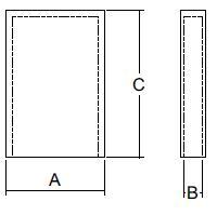 Skizze Schutzkappen für Flachstecker