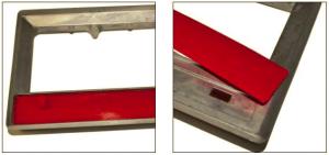 Multiabdeckung an einem Bauteil mit Senke und innenliegendem Ausschnitt.