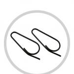 Etikettenschlaufen oval stumpf